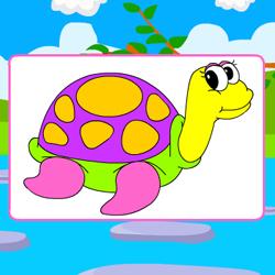 Раскраска Счастливая Черепаха