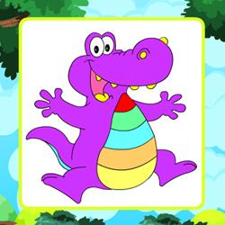 Раскраска Аллигатор