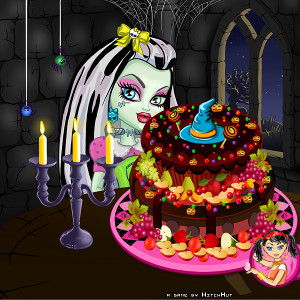 Monster-high высокий пирог