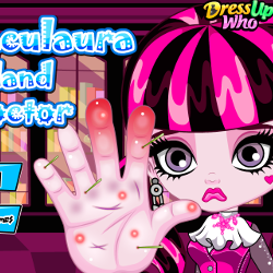 Дракалаура лечение рук Draculaura Hand Doctor
