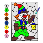 Раскраска по цифрам Гномик