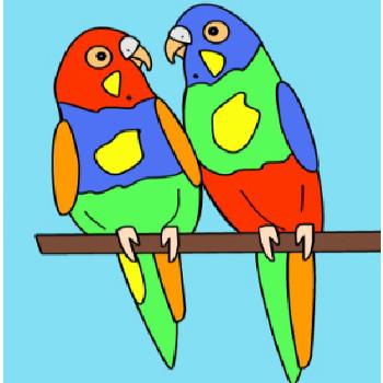 Пазл попугаи
