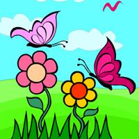 Раскраска милые Бабочки