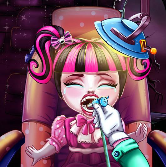 Малашка Монстр Хай у дантиста