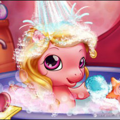 Ванна малышки пони
